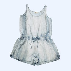 Anthropologie Cloth & Stone Chambray Rompers